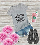 Day Drinker. Country Music Top Tee- Graphic Shirts- V Neck Shirt- Womens T-Shirt