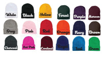 Happy Hat Custom Embroidery Beanie Dwarf Hat Your Color Choice Seven