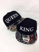 King and Queen Snapbacks Aztec Print Snapbacks Couple Snapback Couple Hats