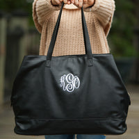 Custom Monogrammed Cambridge Travel Bag Black Large Travel Bag Monogram Personalized Bag