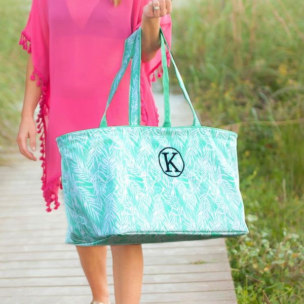 Custom Monogrammed Ultimate Tote Palm Large Shopping Bag Monogram Personalized Bag