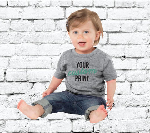 43142123b Baby Custom Tee Custom Infant T-shirt Personalized Baby Fine Jersey Tee