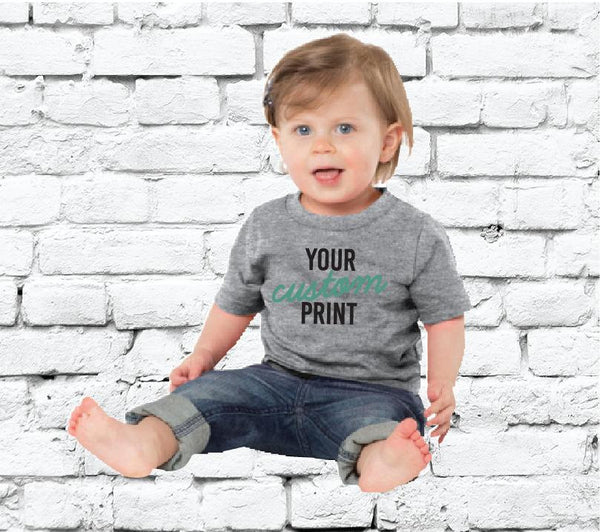 Baby Custom Tee Custom Infant T-shirt Personalized Baby Fine Jersey Tee