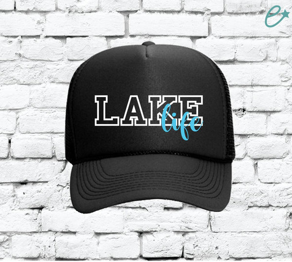 Lake Life Trucker Hats Mesh Back Hat Snapback Customizable Party Hats Spring Break Girls Weekend Guys Weekend College Break