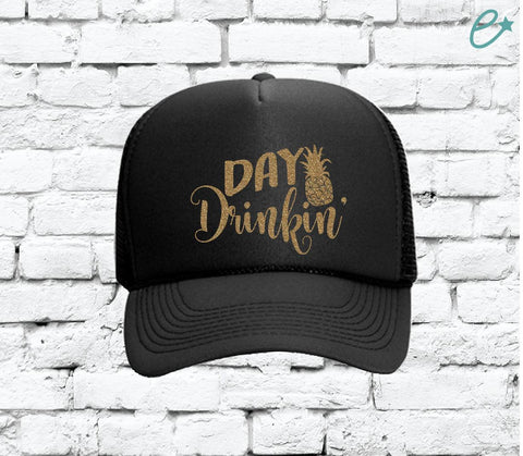 c1d879c36f1c5 Day Drinkin  Trucker Hats Mesh Back Hat Party Hats Spring Break Girls  Weekend Guys Weekend