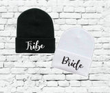 Bride and Tribe Beanie Bride Tribe Beanies Custom Colors Knit Hat Bachlorette Knit Hats