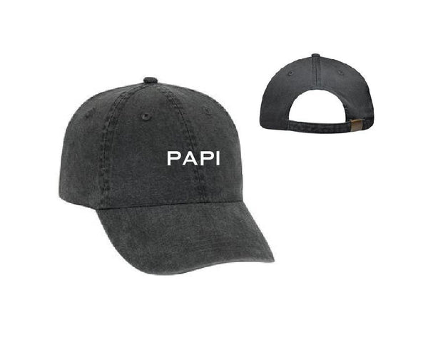 Papi Unstructured Dad Hat Daddy Hat Light Pink Navy and White or Your Color Choice