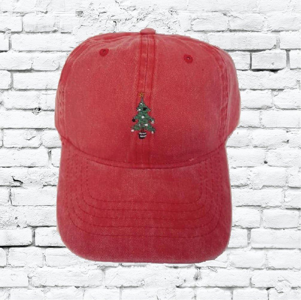 Christmas Hat.Christmas Tree Unstructured Dad Hat Xmas Hat Light Pink Navy And White Or Your Color Choice