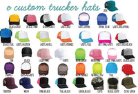 Custom Trucker Hats with Mesh Back Snapback Hat Personalized Foam Front Party Hats  Wedding Bachelor and Bachelorette Parties Birthday Party
