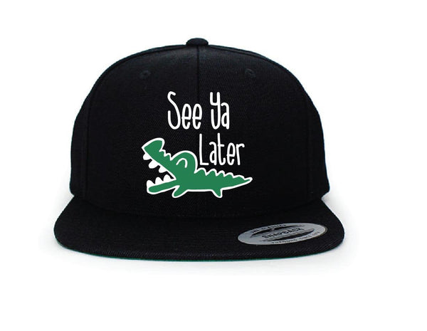 See you later Alligator Embroidery Funny Hat Multi-color Brim Snapback Gator Snapback