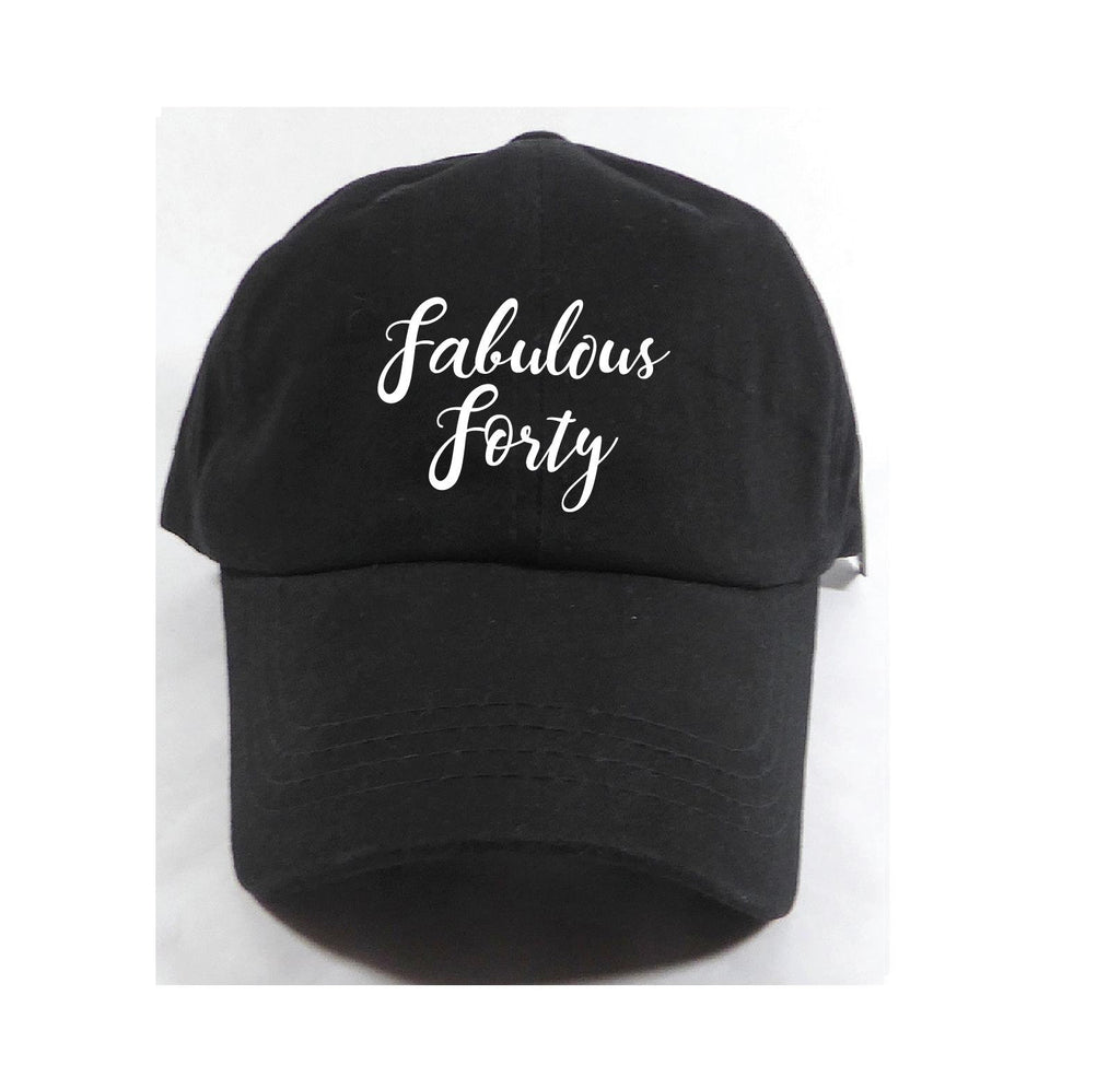 067e32211d71f Fabulous Forty Unstructured Dad Hat Birthday Party Hat Light Pink, Navy and  White or Your