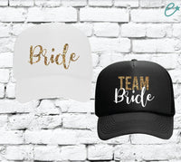 Bride and Team Bride Trucker Hats Bridal Party Hats Mesh Back Hats with Snapback Wedding Party Gift for her Bridesmaids Team Bride Hats
