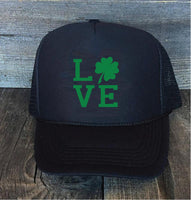 Irish Love St Pattys Saint Patricks Day Trucker Hats Mesh Back Snapback Shamrock Hat Your Color Choices Gift Cute Hat