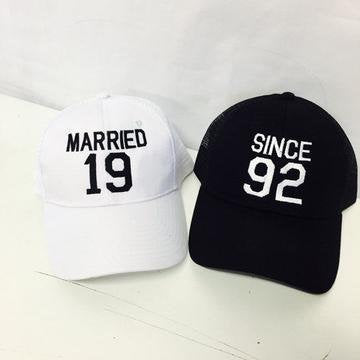 Married Since Trucker Hat Gift or Wedding Announcement Black and White or Your Color Choice