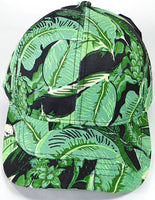 Custom Embroidery Full Floral Baseball Cap Snapback Print Brim Hawaiian Banana Leaf Palm Hat Adjustable Custom Tropical Flower Allover