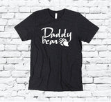 Daddy Bear Bear Paw Print Men's Crew Neck Father Dad T-shirt Graphic Tee Old Man Custom Soft Relaxed Shirt Retail Fit Tee