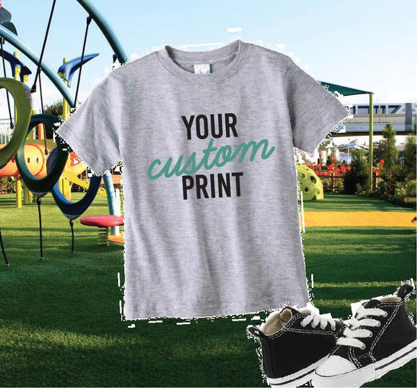 Youth Custom Tee Custom Toddler T-shirt Personalized Toddler Fine Jersey Tee