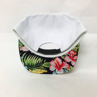 Bride and Squad Snapbacks Hawaiian Floral Print Snapbacks Bachlorette Party Hats Wedding Party Hats