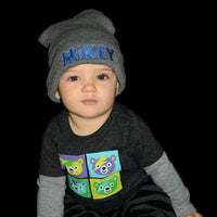 Kids Baby Personalized Beanie Childs Custom Knit Hat Youth Childrens