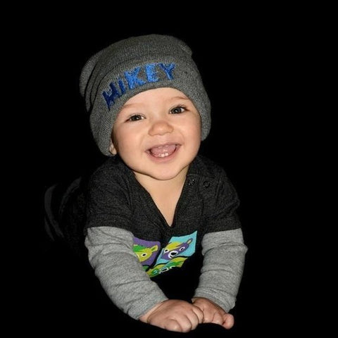 0ba877199 Kids Baby Personalized Beanie Childs Custom Knit Hat Youth Childrens