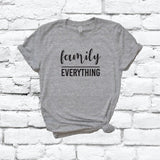 Family over Everything Shirt Custom Color Print Family Faith Print Tee Women's Crew Neck Graphic Tee T-shirt Shirt