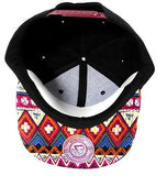 Custom Embroidery Red Aztec Snapback Two-tone Aztec Hat Your Custom Text or Logo