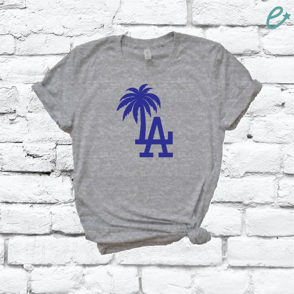 LA Los Angeles Palm Tree Shirt Unisex T-Shirt Funny Graphic Tee Soft Cotton Shirt Casual Cute Womens Tees