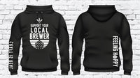 Support Your Local Brewer Hoodie Craft Beer Hooded Custom Brewing Drinking Sweatshirt Feeling Hoppy Real Long Sleeve Hops Jacket
