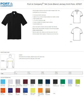 Custom Embroidery Polo Shirt Long and Tall Core Blend Jersey Knit Professional Business Tee Shirts Soft Sports