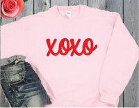 XOXO Kisses and Hugs Crewneck Sweatshirt Custom Pullover Cupid Sweatshirt Personalized Long Sleeve Sweater Valentine's Day Holiday Gift