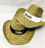 Bride Tribe Embroidered Cowboy Hats Embroidery Hat Sun Protection Popular Headwear Beach Shade Hip Style Straw Hat Bachlorette Concert Hat