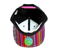 Custom Embroidery Aztec Snapback Multi Color Two-tone Aztec Hat Your Custom Text or Logo Red Orange Purple Pink Blue Green