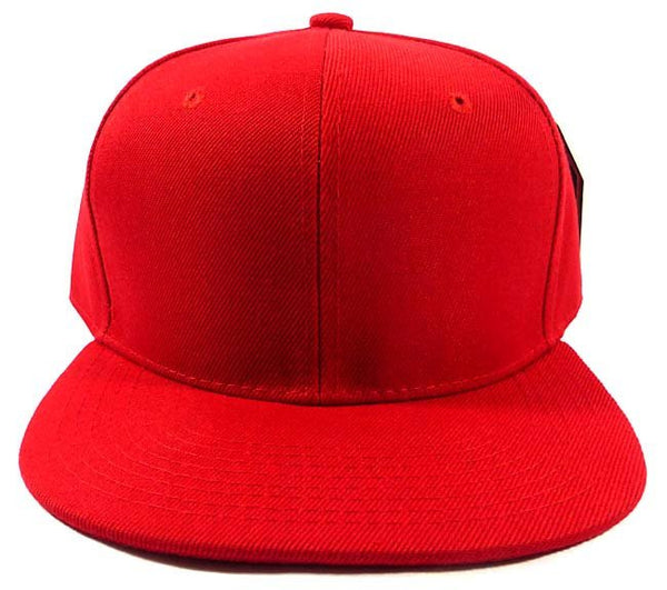 Custom Embroidery Snapback Hat Red Embroidered Hat Your Color Choice Custom Embroidery Solid Flat Bill Snapback