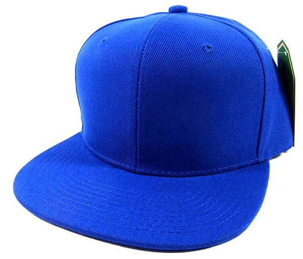 Custom Embroidery Snapback Hat Royal Blue Embroidered Hat Your Color Choice Custom Embroidery Solid Flat Bill Snapback