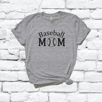 Baseball Mom Shirt Graphic Tee Unisex Crew Neck T-shirt Custom Mom Female Momlife Shirt Relaxed Retail Fit Tee