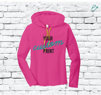 Custom Hoodie Custom Hooded T-Shirt Sweatshirt  Long Sleeve Kangaroo Pocket