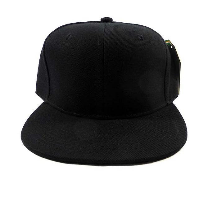 46602f7cba80c9 Custom Embroidery Solid Black Snapback Hat Youth Kids Juniors Black Hat  Childs Size Snapback Cap