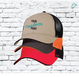 Custom Embroidery Mesh Back Baseball Cap Trucker Hat Your Custom Print Two Tone Low Profile Unstructured Sandwich Visor