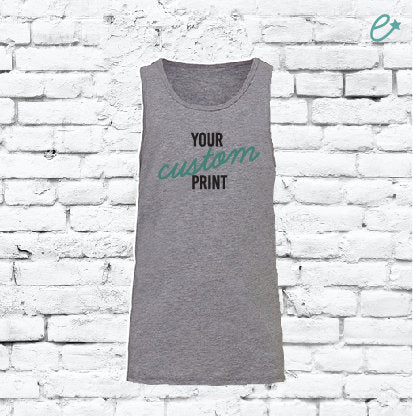 Youth Custom Tank Top Sleeveless Tee Custom Youth T-shirt Personalized Jersey Tank