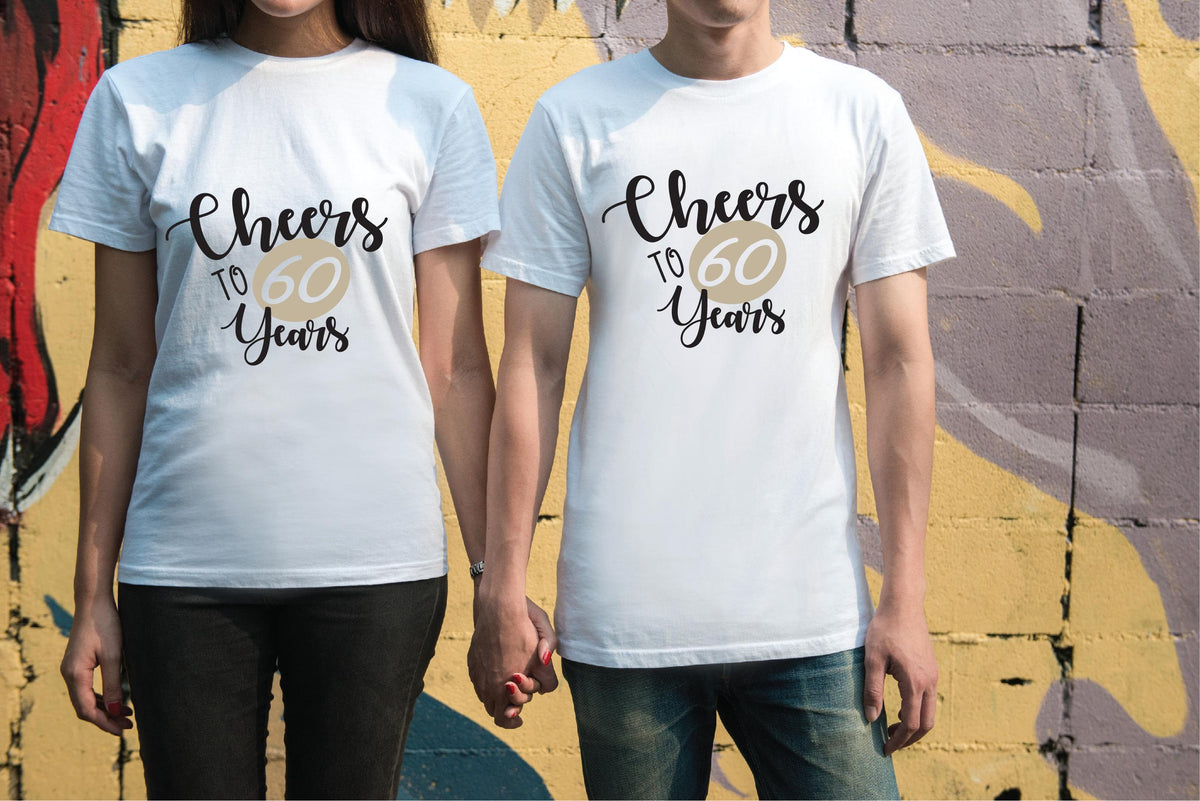 a4deace4 Cheers to 60 Years Tees Couples Anniversary Graphic Tee Your Custom Ye –  HeatherGaleaDesigns