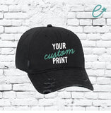 Custom Embroidery Ripped Adult Distressed Dad Hat 6 Panel Low Profile Twill Superior Washed Cotton Baseball Cap Old Weathered Look