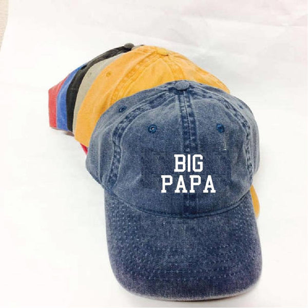 Big Papa Baseball Cap Boyfriend Daddy Dad Husband Unstructured Dad Hat Funny Hat As Shown or Your Color Choice