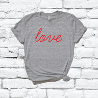 Love Valentines Shirt V Day Graphic Tee Unisex Be My Valentine Crew Neck T-shirt Custom Shirt Relaxed Retail Fit Tee