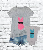 Cool Peeps Shirts T-Shirt Funny Easter Bunny Print Women's V-Neck T-shirt Custom Shirt Gift for her Fitted Tee