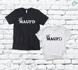 Just Maui'd Tees Honeymoon Maui Couples Funny Adult Graphic Tee Pair Shirts Unisex T-shirt Gift for Married His and Hers