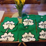 Drunk 1 and Drunk 2 Saint Patricks Day Fun Funny Shamrock Tank Tops Fun Couple Tee Women's Soft Relaxed Fitted Tank