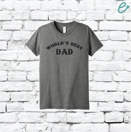World's Best Dad Print Men's Crew Neck Grandpa T-shirt Graphic Tee Father Old Man Custom Soft Relaxed Shirt Retail Fit Tee