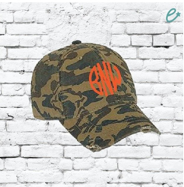 Custom Embroidery Camo Hat Youth Washed Camoflauge Baseball Cap for Kids Outdoors Camping Hunting Sun Hat Cap Green Tan