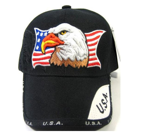 b413905e00c Custom Embroidery Hats American Flag Eagle USA Stars and Stripes Red White  and Blue Dad Baseball