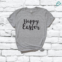 Happy Easter Shirt Graphic Tee Crew Neck Shirt Unisex Holiday T-shirt Custom Shirt Relaxed Retail Fit Tee